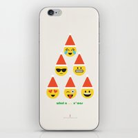 wallet iPhone & iPod Skins featuring Emoji: What a ... x'mas (Six Pack) by aPersonalidea