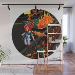 Lovecraft Cuties Set 01: Cynthiuh The Living Flame Wall Mural