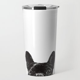 Peeking French Bulldog Travel Mug
