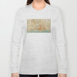 Vintage Map of Yonkers NY (1893) Long Sleeve T-shirt