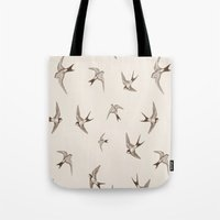 birdy Tote Bags featuring birdy by LA creation