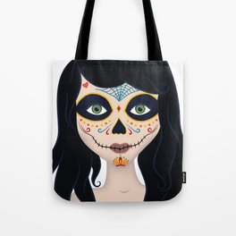 Day of the Dead Girl Illustration Tote Bag