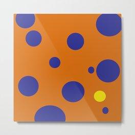 Yellow Dot Metal Print