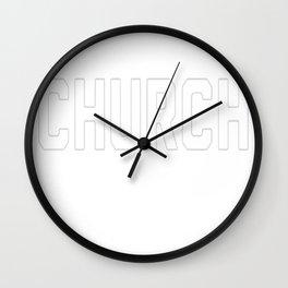 BASEBALL CHURCH T-SHIRT Wall Clock