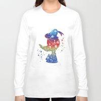 donald duck Long Sleeve T-shirts featuring Donald Duck Disneys by Carma Zoe