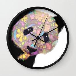 Patterned Panda Bear Wall Clock