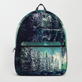 A Cold Winter's Night : Spearmint Teal Green Winter Wonderland Backpack