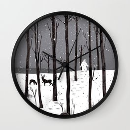 Mister Yeti's Great Escape Wall Clock