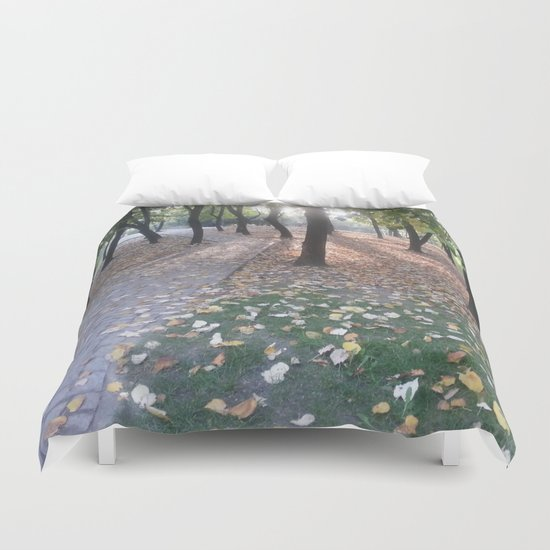 End of summer afternoon in park Duvet Cover