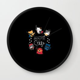 Dungeons And Cats Wall Clock