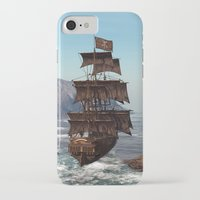 pirate ship iPhone & iPod Cases featuring Pirate Ship by Simone Gatterwe