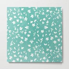 Scandinavian Floral Pattern Metal Print