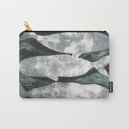 Whales Black and Grey Carry-All Pouch