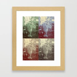 lions. Framed Art Print