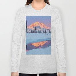 Calm Snowy Mountain Long Sleeve T-shirt