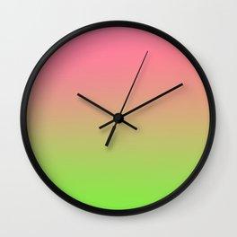 NEW ENERGY - Minimal Plain Soft Mood Color Blend Prints Wall Clock