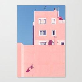 Sunny House And Blue Sky Canvas Print