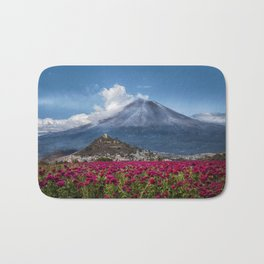 Popocatepetl Volcano Puebla Mexico Bath Mat