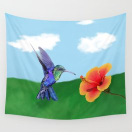 The very hungry hummingbird Wall Tapestry