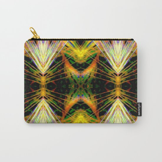 Yellow Bright Rays,Fractal Art Carry-All Pouch