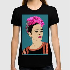 Frida Kahlo Womens Fitted Tee SMALL Black