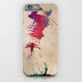 Golf player sport art #golf #sport iPhone Case