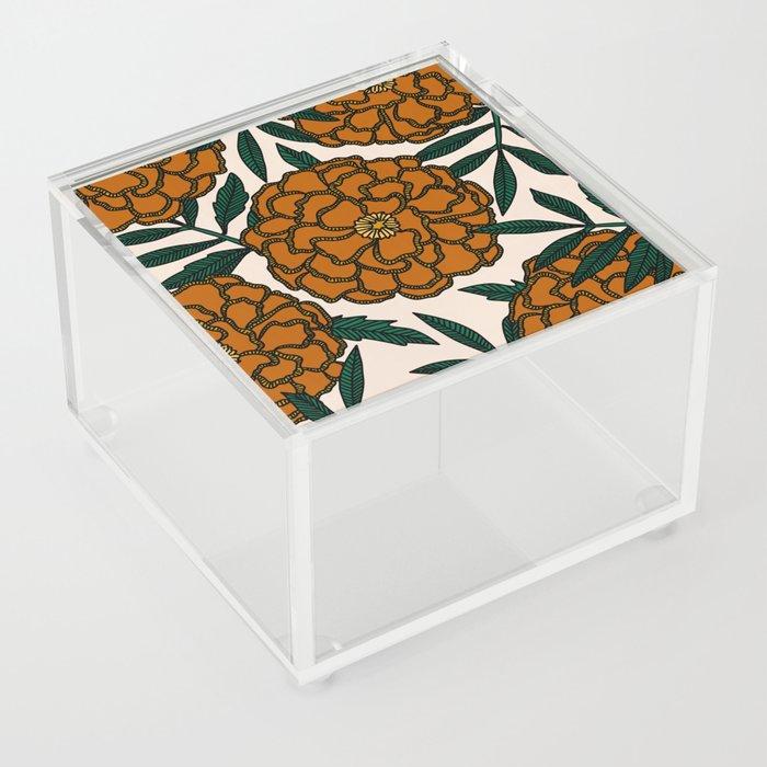 Orange Marigolds Acrylic Box