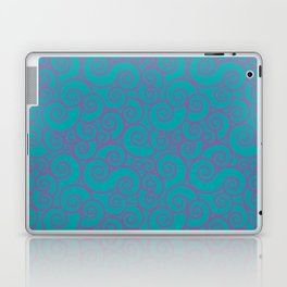 Vintage Green Spiral Laptop & iPad Skin