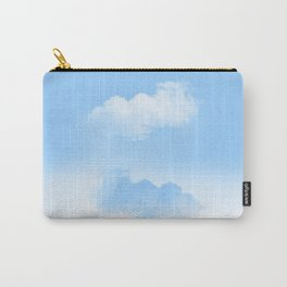 white and blue clouds Carry-All Pouch