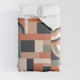 Earth Tones Blocks Comforters