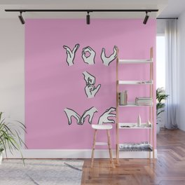 You and Me - pink Wall Mural