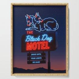 The Black Dog Motel Serving Tray