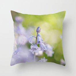 Bluebell Garden Throw Pillow