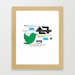 POWER ON TWITTER Framed Art Print