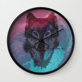 the wolf 7 Wall Clock
