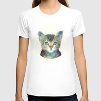 amy T-shirts featuring Cat // Aware by Amy Hamilton