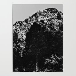 Travelling Mountain Greece Clock Poster