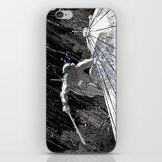 Black and White Ninja Turtle Leonardo iPhone & iPod Skin