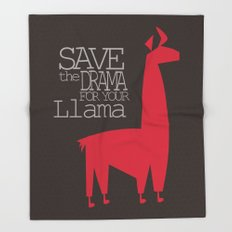 Save the Drama for your Llama Throw Blanket