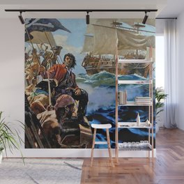 Pirate Attack on the High Seas Wall Mural