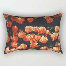 Orange flower fleurs Rectangular Pillow