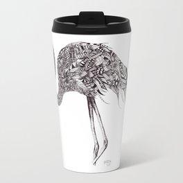 Zentangle Flamingo Travel Mug