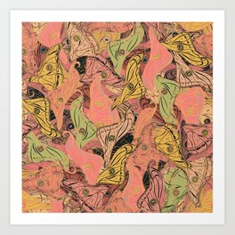 Butterfly Wings - Coral Pink Art Print