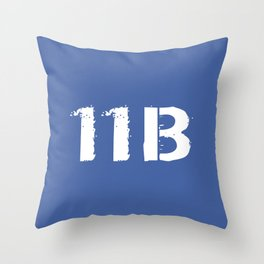 11B Infantryman (Blue) Throw Pillow