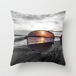 Sunset Perspective Throw Pillow