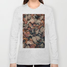 Autumn Leafs Pattern (Color) Long Sleeve T-shirt