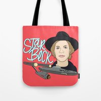 cassia beck Tote Bags featuring Star Beck by Chelsea Herrick