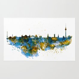 Berlin watercolor skyline Rug