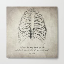 Breathe Quote Metal Print