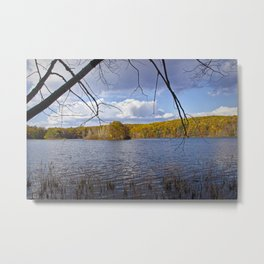 Hall Lake by Yankee Springs in Autumn Metal Print